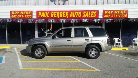 2002 Chevrolet TrailBlazer for sale at Paul Gerber Auto Sales in Omaha NE