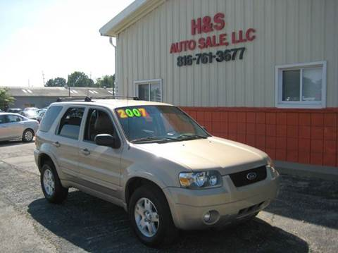 2007 Ford Escape for sale at H & S Auto Sale LLC in Grandview MO
