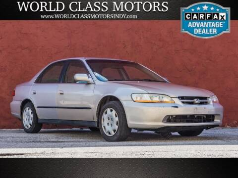 1998 Honda Accord for sale at World Class Motors LLC in Noblesville IN