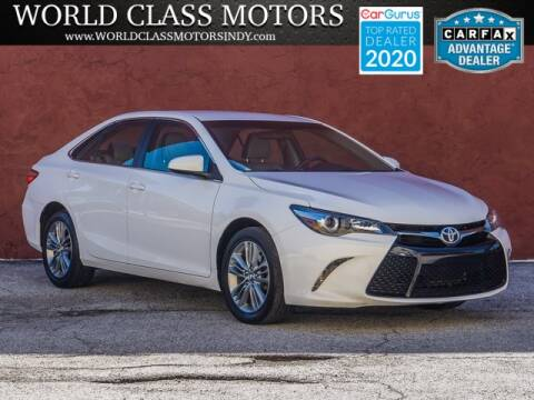 2016 Toyota Camry for sale at World Class Motors LLC in Noblesville IN