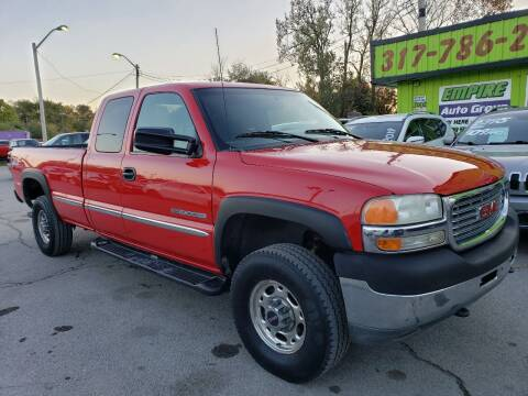 2001 GMC Sierra 2500HD for sale at Empire Auto Group in Indianapolis IN