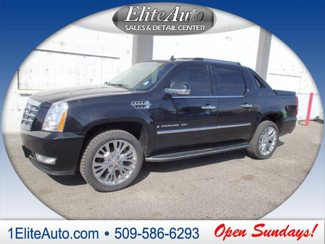 2008 CADILLAC ESCALADE EXT BASE AWD 4DR SB CREW CAB black memorized settings includes driver sea