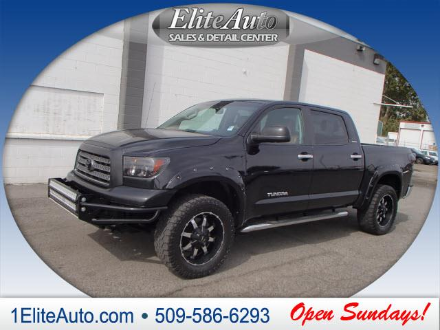 2008 TOYOTA TUNDRA LIMITED 4X4 4DR CREWMAX SB 57L black picture yourself in this beauty  the 2