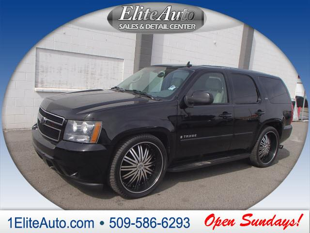 2007 CHEVROLET TAHOE LTZ 4DR SUV 4WD black why look any further  dont buy a lemon carfax title