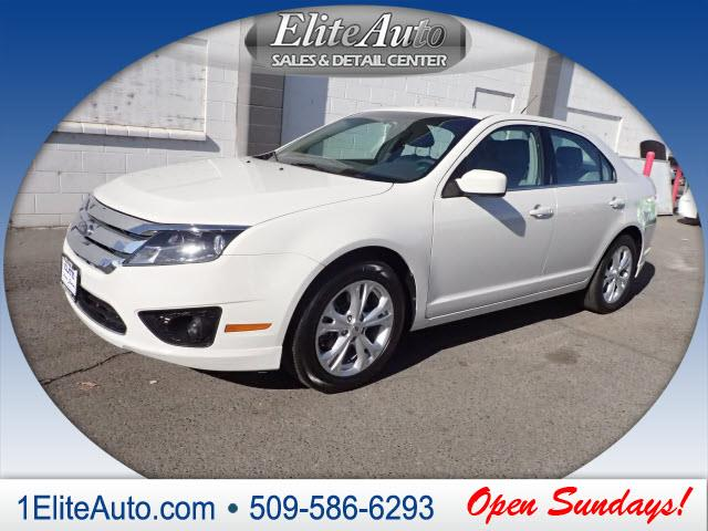 2012 FORD FUSION SE 4DR SEDAN white fords fusion offers a lot of bang for the buck in a mid-size