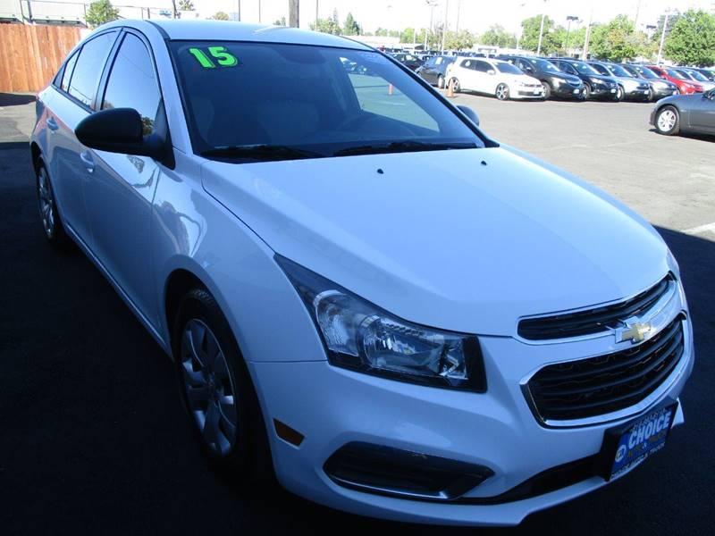 2015 Chevrolet Cruze for sale at Choice Auto & Truck in Sacramento CA