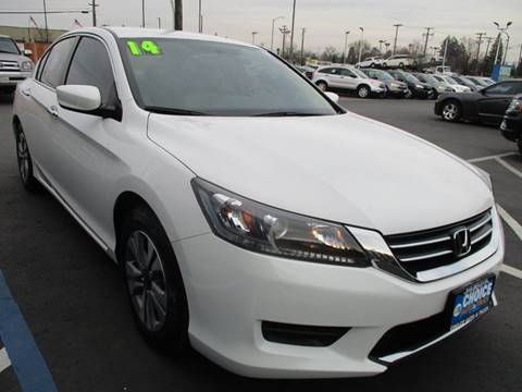 2014 Honda Accord for sale at Choice Auto & Truck in Sacramento CA
