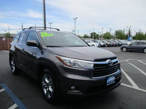 2015 Toyota Highlander for sale at Choice Auto & Truck in Sacramento CA