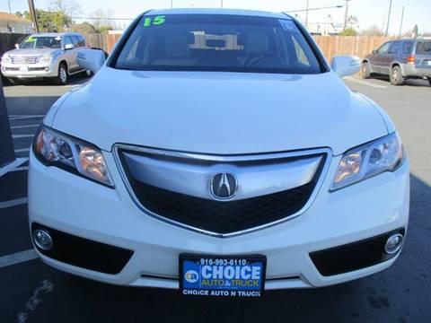 2015 Acura RDX for sale at Choice Auto & Truck in Sacramento CA
