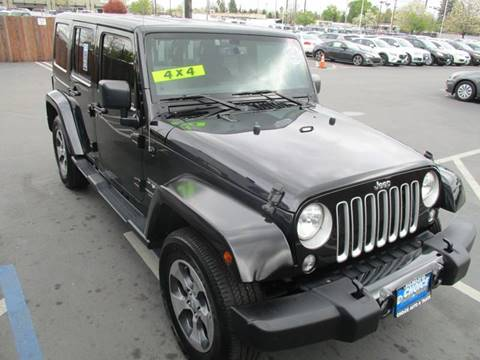 2016 Jeep Wrangler Unlimited for sale at Choice Auto & Truck in Sacramento CA