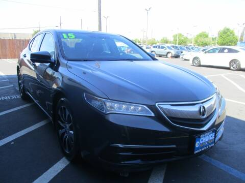 2015 Acura TLX for sale at Choice Auto & Truck in Sacramento CA