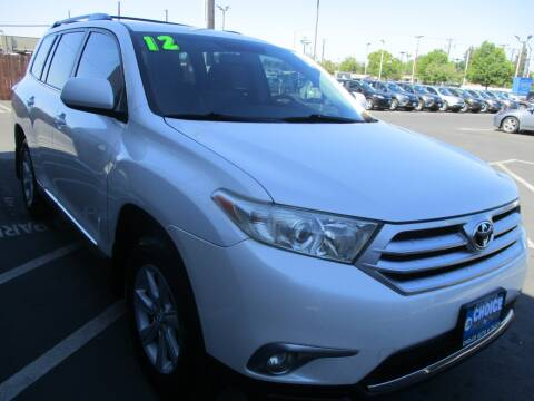 2012 Toyota Highlander for sale at Choice Auto & Truck in Sacramento CA