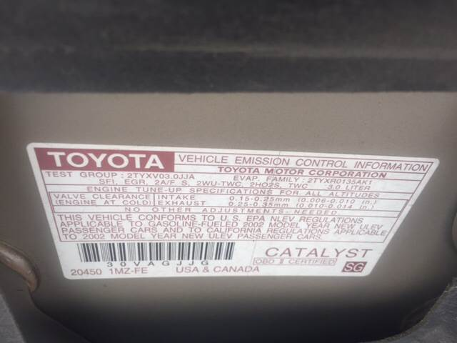 2002 Toyota Camry for sale at TOWN & COUNTRY MOTORS INC in Meriden KS