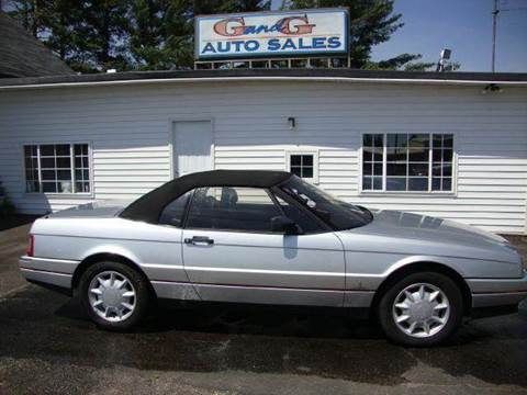 1992 Cadillac Allante for sale at G and G AUTO SALES in Merrill WI