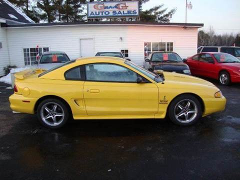 1998 Ford Mustang for sale at G and G AUTO SALES in Merrill WI