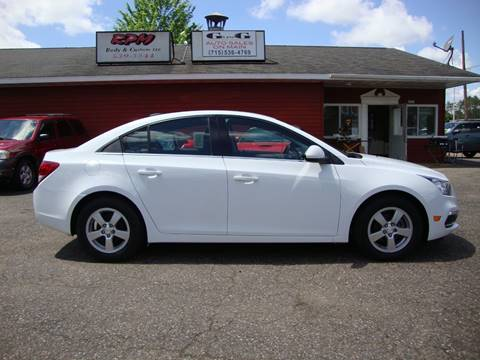 2015 Chevrolet Cruze for sale at G and G AUTO SALES in Merrill WI