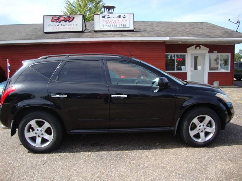2004 Nissan Murano Awd Sl 4dr Suv In Merrill Wi G And G Auto Sales