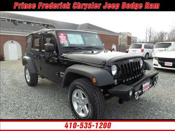2014 Jeep Wrangler Unlimited for sale in Prince Frederick, MD