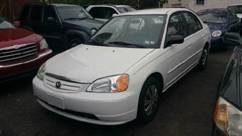 2002 Honda Civic for sale at Rockland Auto Sales in Philadelphia PA