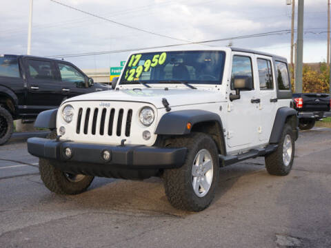 2017 Jeep Wrangler Unlimited for sale at FOWLERVILLE FORD in Fowlerville MI