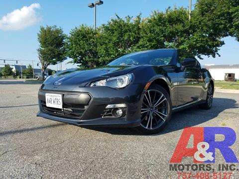 2016 Subaru BRZ for sale at A&R MOTORS in Portsmouth VA