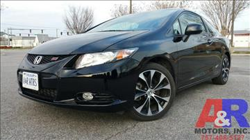 2013 Honda Civic for sale at A&R MOTORS in Portsmouth VA