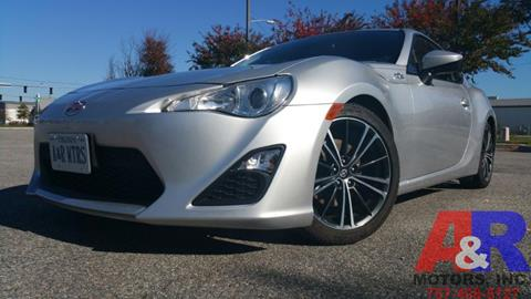 2014 Scion FR-S for sale at A&R MOTORS in Portsmouth VA