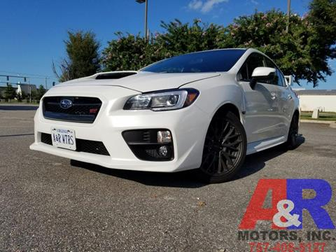 2016 Subaru WRX for sale at A&R MOTORS in Portsmouth VA