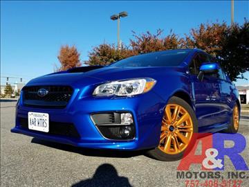 2015 Subaru WRX for sale at A&R MOTORS in Portsmouth VA