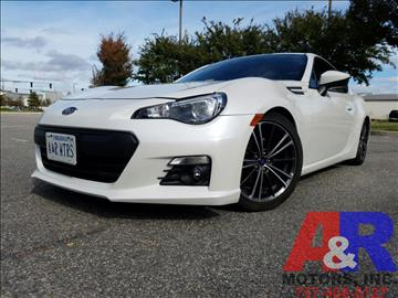 2013 Subaru BRZ for sale at A&R MOTORS in Portsmouth VA