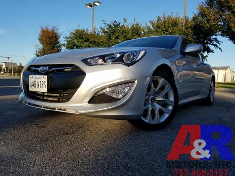 2014 Hyundai Genesis Coupe for sale at A&R MOTORS in Portsmouth VA