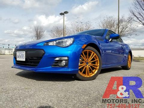 2014 Subaru BRZ for sale at A&R MOTORS in Portsmouth VA