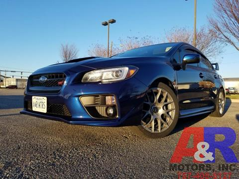 2015 Subaru WRX for sale at A&R MOTORS in Portsmouth VA