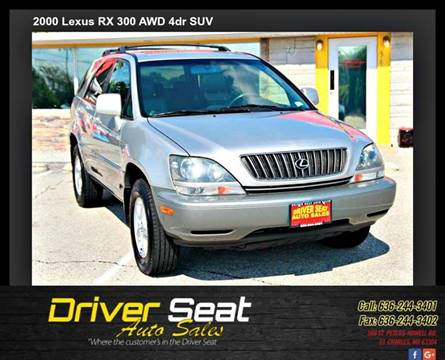 2000 Lexus RX 300 for sale at Driver Seat Auto Sales in St. Charles MO