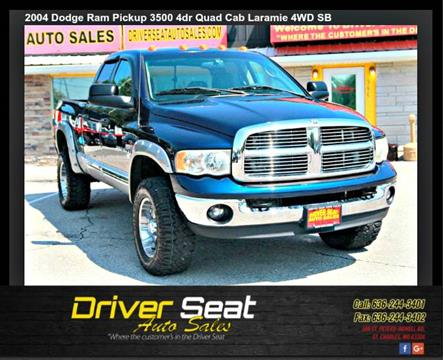 2004 Dodge Ram Pickup 3500 for sale at Driver Seat Auto Sales in St. Charles MO