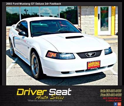 2003 Ford Mustang for sale at Driver Seat Auto Sales in St. Charles MO