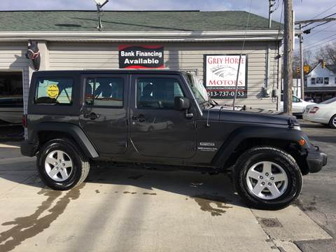 2016 Jeep Wrangler Unlimited for sale at Grey Horse Motors in Hamilton OH