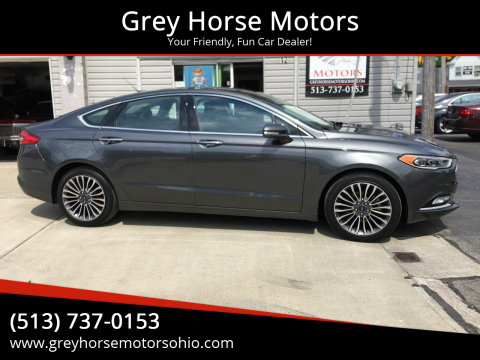 2017 Ford Fusion for sale at Grey Horse Motors in Hamilton OH