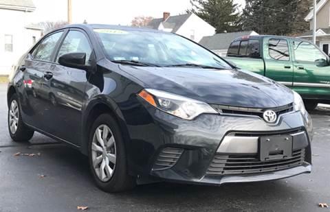 2015 Toyota Corolla for sale at FAMILY AUTO SALES, INC. in Johnston RI