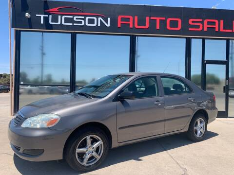 2007 Toyota Corolla for sale at Tucson Auto Sales in Tucson AZ