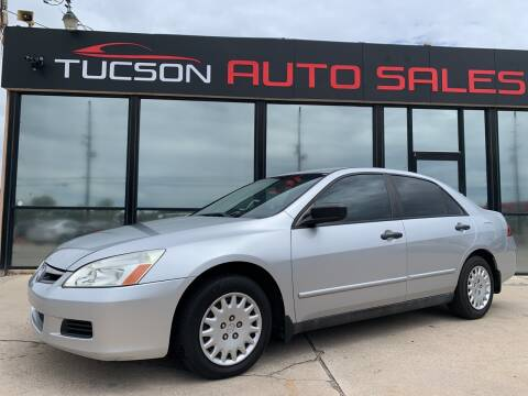 2007 Honda Accord for sale at Tucson Auto Sales in Tucson AZ