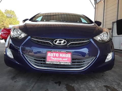 2013 Hyundai Elantra for sale in Grand Prairie, TX