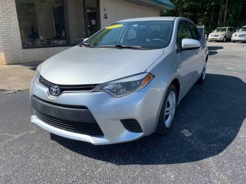 2015 Toyota Corolla for sale at Diana Rico LLC in Dalton GA