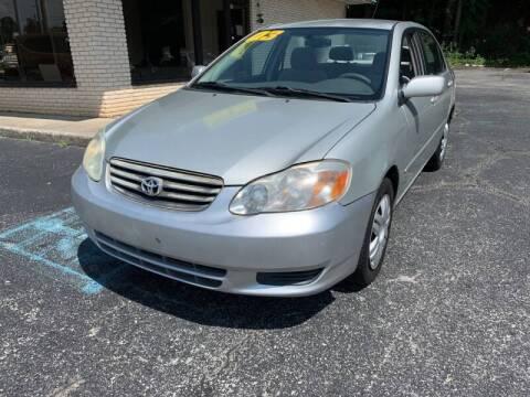 2003 Toyota Corolla for sale at Diana Rico LLC in Dalton GA