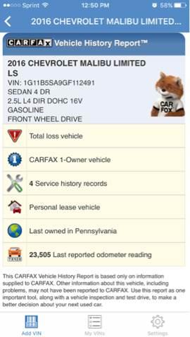 2016 Chevrolet Malibu Limited LS 4dr Sedan - Philadelphia PA