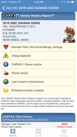2016 GMC Savana Cutaway 3500 2dr 139 in. WB Cutaway Chassis w/1WT - Philadelphia PA