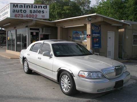 2004 Lincoln Town Car for sale at Mainland Auto Sales Inc in Daytona Beach FL