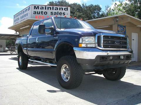 2002 Ford F-250 Super Duty for sale at Mainland Auto Sales Inc in Daytona Beach FL