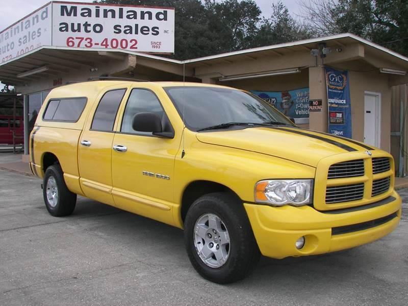 2005 dodge ram pickup 1500 4dr quad cab slt rwd sb in daytona beach fl mainland auto sales inc. Black Bedroom Furniture Sets. Home Design Ideas