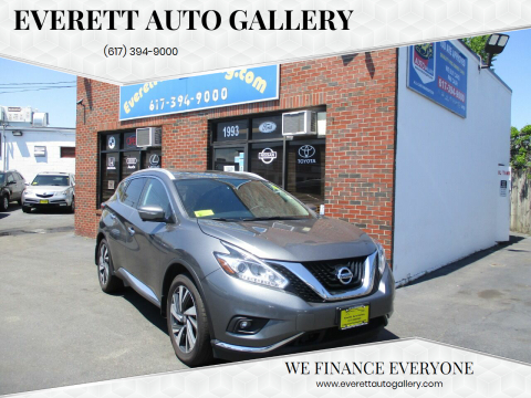 2015 Nissan Murano for sale at Everett Auto Gallery in Everett MA